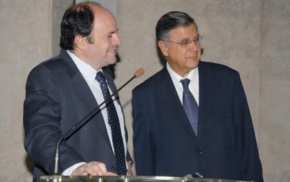 Rodrigo Álvarez junto a Héctor Humeres