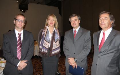 Felipe Kast, Claudia Bobadilla, Cristóbal Lira y Lionel Sotomayor