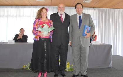 Claudia Schmidt, Ernesto Silva y Ambrosio Rodríguez