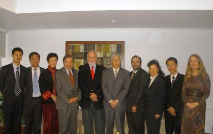 Autoridades UDD con delegación de CICIR