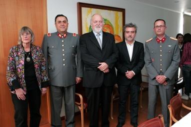Johanna Thiele, Ernesto Silva, General Jorge Fuenzalida, Arturo Duclos y Mayor Siegfried Heyel