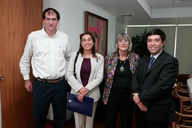 Cristóbal Cardemil, Loreto Lucar, Johanna Thiele, Oscar Acuña