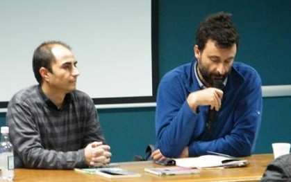 Julio Núñez junto a Cristián Warnken