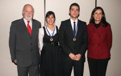 Ernesto Silva, Begoña Asfura, Javier Salinas y Florencia Jofré