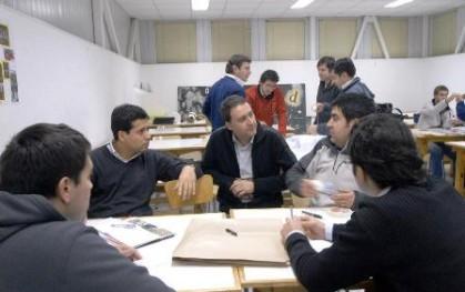 Allan Urban y ex alumnos