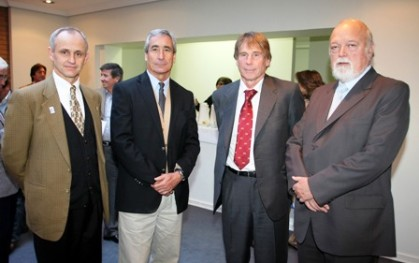 Javier Irarrázabal, Pedro Arriagada, Hernán Büchi y Ernesto Silva