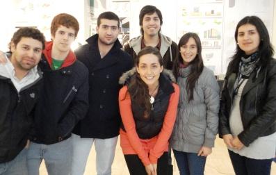 Alumnos de cuarto año que participaron del proyecto