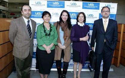 Eugenio Guzmán, Claudia Peirano, Francisca Dussaillant, Mariana Aylwin y Haral Beyer