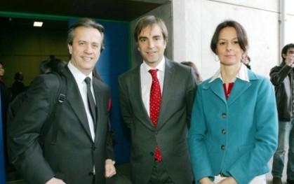 Santiago Schuster, Ministro y Mª Eugenia Sahli