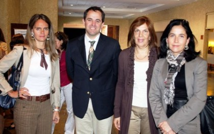 Carolina Eterovic, Rodrigo Castro, Olga Pizarro y Carolina Carrasco