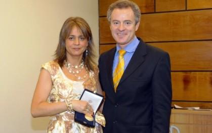 Federico Valdés juanto a Jacqueline Van Rysselberghe