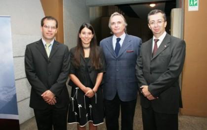 Conrad von Igel, Alejandra Amenábar, Carlos Hinrichsen y Tomás Flores