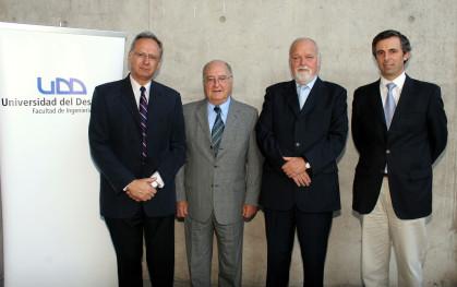 José Manuel Robles, Fernando Monckeberg, Ernesto Silva y Rodrigo Fernández