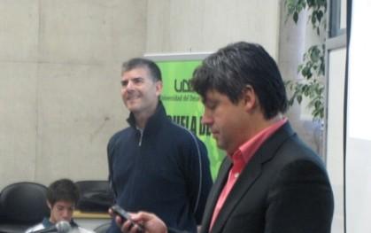 Juan Carlos Ortiz junto a Sergio Gamboa