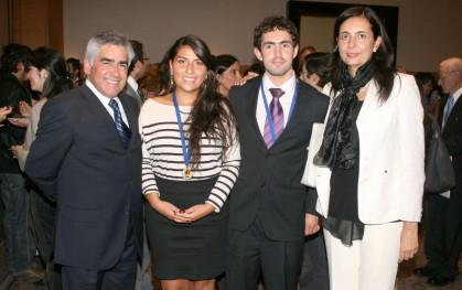 Dr. Luis Vicentela, Dra. Oriana Varas, Dr Ricardo Gouet, Sra. Florencia Jofré