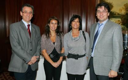 Andrés Jara, Ximena Clark, Verónica González y Carlos Albornoz