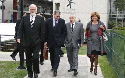 Ernesto Silva, Felipe Bulnes, Pablo Rodríguez y Cecily Halpern.