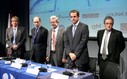 Hernán Büchi, Andrés Concha, Juan Andrés Fontaine, Rodrigo Castro y Roberto Zahler
