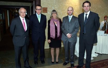 Herán Cheyre, Aníbal Pinto, Silvia de Torres, J. Ernesto Amorós y Rodrigo Castro