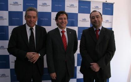 Carlos Ominami, Laurence Golborne y Eugenio Guzmán