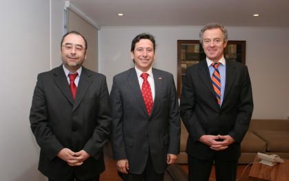Eugenio Guzmán, Laurence Golborne y Federico Valdés