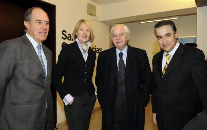 Jorge Lesser, Claudia Bodabilla, Eliodoro Matte y Claudio Muñoz