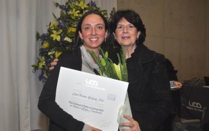 Loreto Rodríguez junto a Gloria Carranza