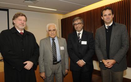 Richard Büchi, Sergio Montenegro, Leonel Sierralta y Rodrigo Castro