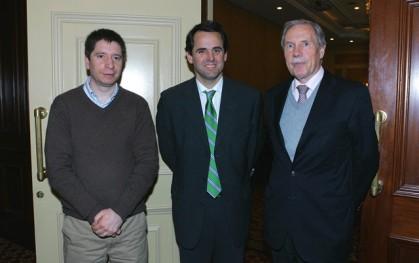 Francisco Santibáñez, Rodrigo Cartro y Dirk Leisewitz