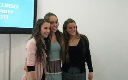 Ganadoras Huggies; Natalia Viviani, Valentina Prieto, Renate Gantz