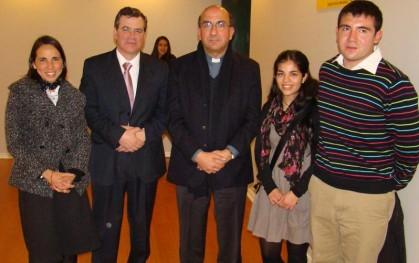 Mónica Astorga, Ítalo Tassara, Monseñor Fernando Chomalí, Mariana Brevis, Matías Osses.