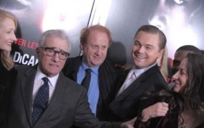 Medavoy con Patricia Clarkson, Leonardo Di Caprio, Martin Scorsese y Laeta Kalogridis