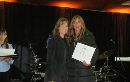 Michelle Diemier y la alumna  Maria Andrea Schiller