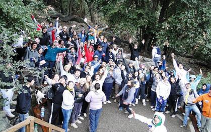 Alumnos en Seminario de Liderazgo en Cajón del Maipo