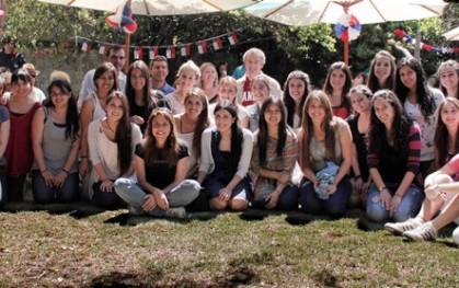 Federico Valdés y alumnos en la Fiesta de los Pacientes