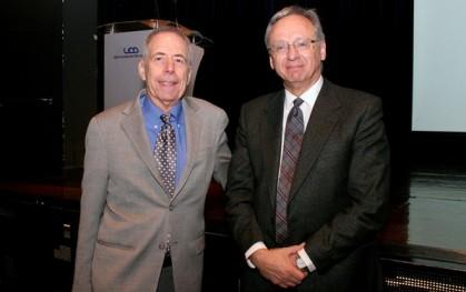 Jerry Banks y José Manuel Robles, decano de Ingeniería