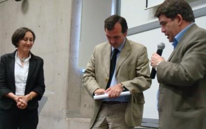 Ana María Paiva, Ernesto Silva Méndez y Armando Roa