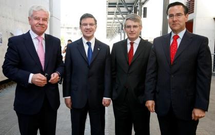 Rubén Covarrubias, Joaquín Lavín, Nicolás Cubillos y Orlando Poblete