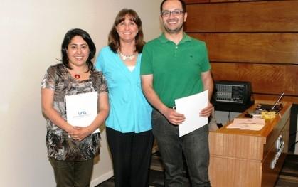 Maritza Morales,  Déborah Pavesi, Guillermo Flores