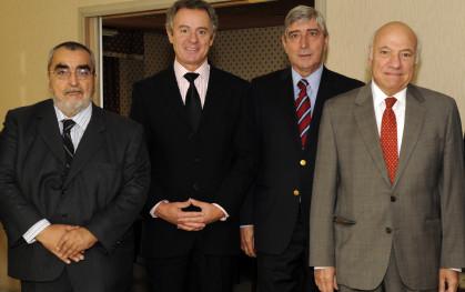 Enrique Correa, Federico Valdés, Cirilo Córdova y Vittorio Corbo.