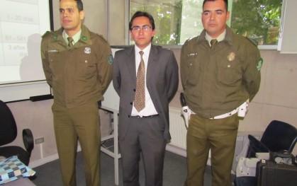 Capitán Anwar Kharufeh, Alejandro Leiva y  cabo 2° Álvaro Aspee