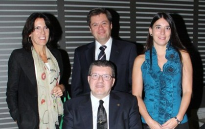 Jacqueline Plass, Oscar Mellado y Alejandra Amenábar, Enrique Rovira-Beleta.