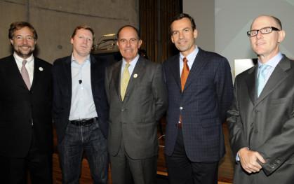 PEDRO PABLO ERRÁZURIZ, CAMERON SINCLAIR, JORGE LESSER, CHRISTOPH SCHIESS Y MAX  SICHEL