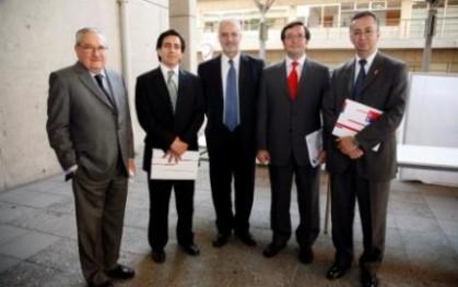 Pablo Rodríguez, Eduardo Escalona, Francisco Pfeffer, Alejandro Arriagada y Tomás Flores