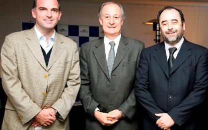 Diputado Ernesto Silva, Luis Larraín y Eugenio Guzmán