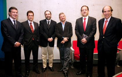 Joaquín Lavín, Marcel Oppliger, Eugenio Guzmán, Juan Manuel Astorga, Harald Beyer y Álvaro Fischer
