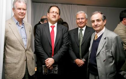 Rolf Lüders, ministro Harald Beyer, Renato Peñafiel
