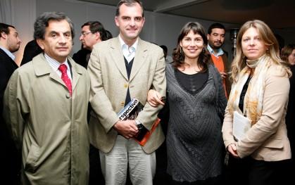 Sergio Hernández, diputado Ernesto Silva, Jimena Álamos y María Paz Lagos