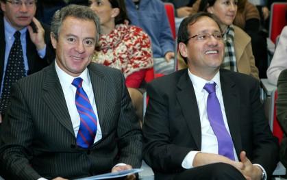 1 Federico Valdés y ministro Harald Beyer