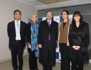 Yun -Tso Lee, Virginia Greville, embajadora de Australia, Fernando Schmidt, Subsecretario de relaciones exteriores; Florencia Jofré y Paulina Boysen.